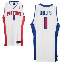 Detroit Pistons #1 C Billups Home white