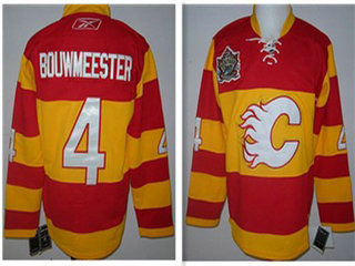 Calgary Flames #4 Bouwmeester red throwback