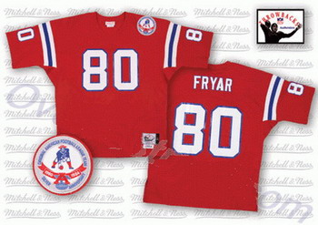 New England Patriots 80 Fryar red Mitchell and Ness Jerseys