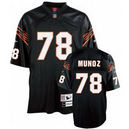 Cincinnati Bengals 78 Anthony Munoz Black Jersey Mitchell and ness