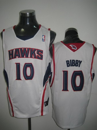 Atlanta Hawks 10 BIBBY white jerseys