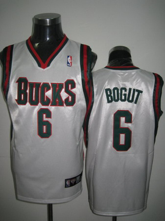 Milwaukee Bucks BOGUT white jerseys