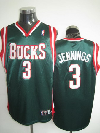 Milwaukee Bucks JENNINGS green jerseys