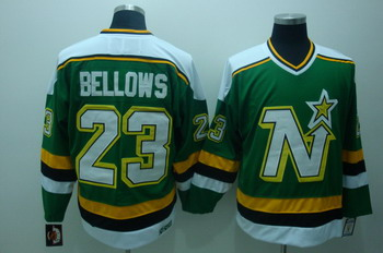 Dalls Stars 23 Brian Bellows Green Jerseys CCM