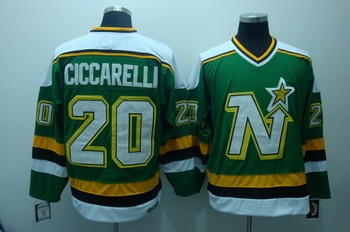 Dallas Stars 20 ciccarelli Green jerseys CCM