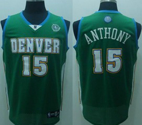 Denver Nuggets #15 Carmelo Anthony Green Jersey