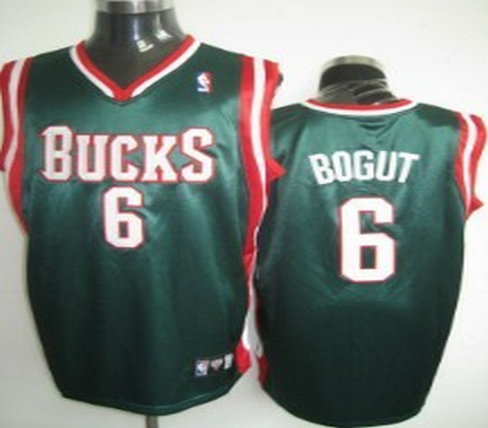 Milwaukee Bucks #6 Bogut Green Jersey