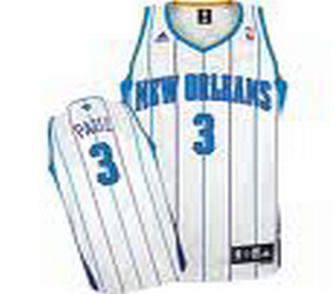 New Orleans Hornets #3 Chris Paul Authentic White Jersey