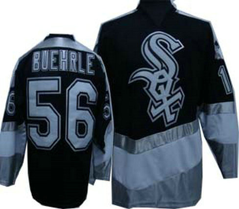 White Sox 56 BUEHRLE New Black Jersey