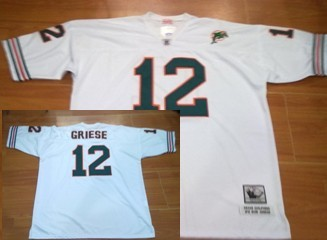 Miami Dolphins #12 Griese White Throwback Jersey