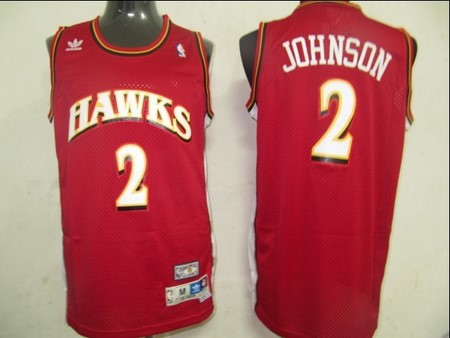 Atlanta Hawks 2 Johnson Red Jerseys