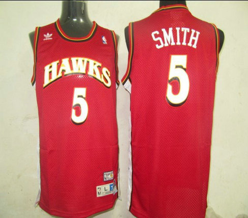 NBA Jerseys Atlanta Hawks 5 Smith Red【Swingman