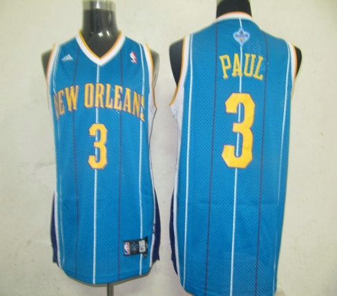 NBA Jersey New Orleans Hornets 3 Chris Paul Blue(Swingman