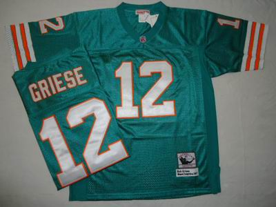 Miami Dolphins 12 Bob Griese Jerseys Throwback jerseys MN GREEN