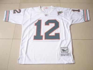 Miami Dolphins 12 Bob Griese Jerseys Throwback jerseys MN white