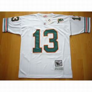 Miami Dolphins 13 Dan Marino white Throwback