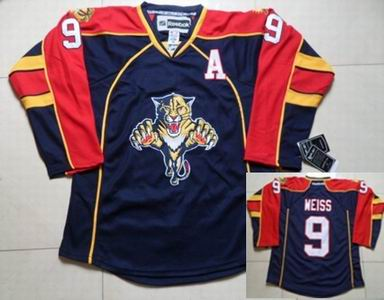 Florida Panthers 9 Stephen Weiss Blue red Jersey