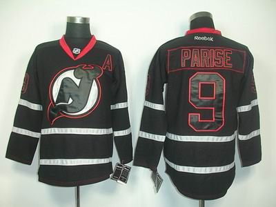 New Jersey Devils 9 Parise black jerseys