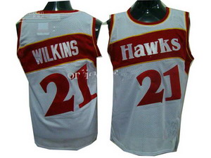 Atlanta Hawks 21 Dominique Wilkins White Soul Swingman Home Basketball Jersey
