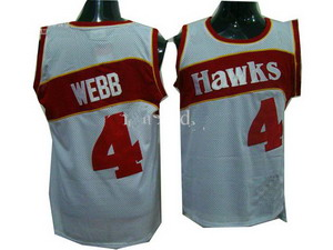 Atlanta Hawks 4 Spud Webb Home White Soul Swingman Basketball Jersey