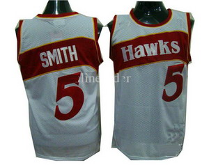 Atlanta Hawks 5 Josh Smith White Soul Swingman Basketball Jersey