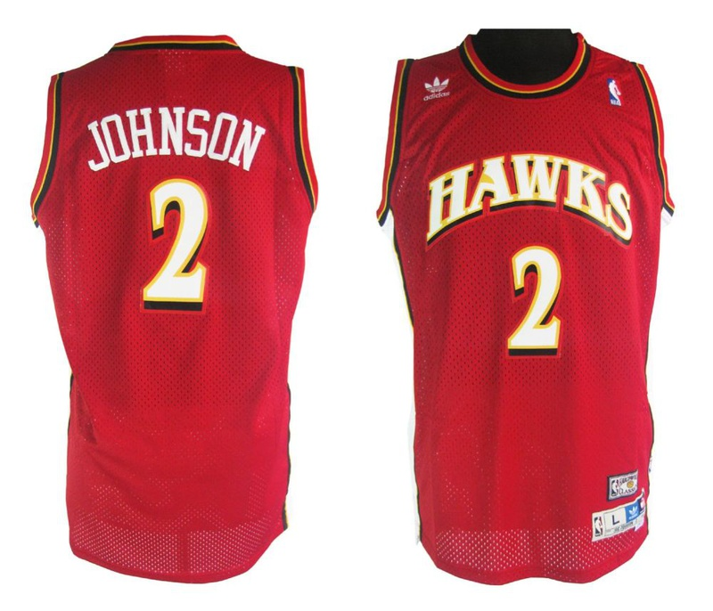 Mitchell and Ness Atlanta Hawks #2 Joe Johnson Soul Swingman Stitched Red Jersey