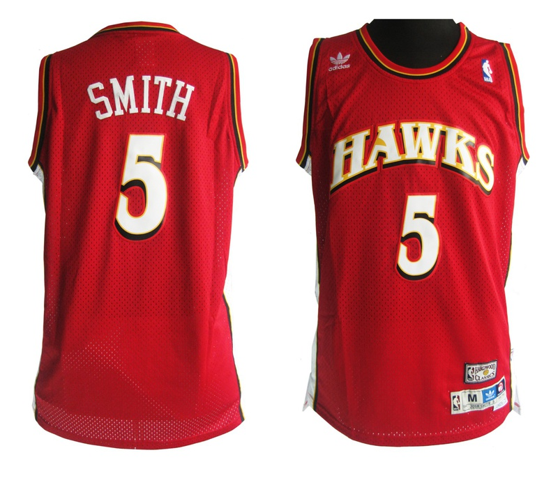 Mitchell and Ness Atlanta Hawks #5 Josh Smith Soul Swingman Stitched Red Jersey hkl