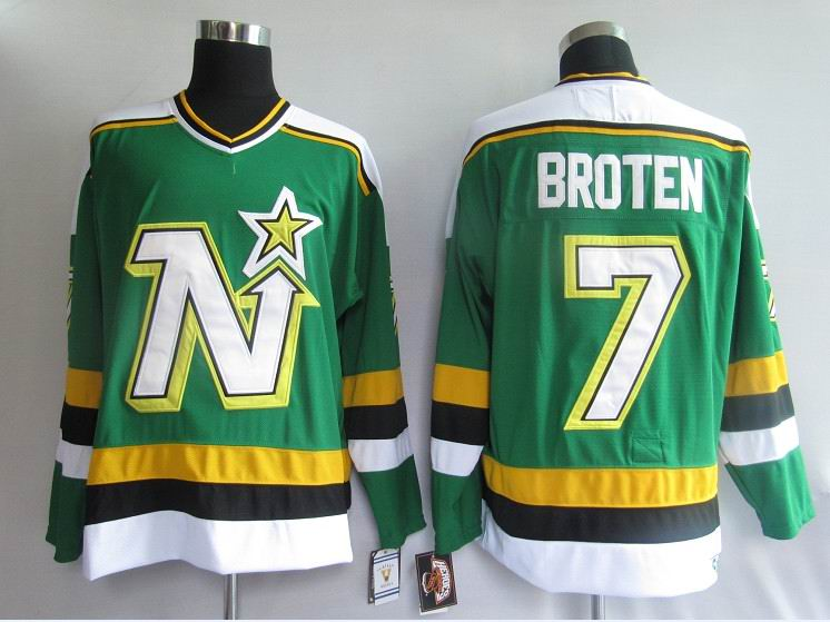 NHL Jerseys Dallas Stars 7# Broten Green CCM