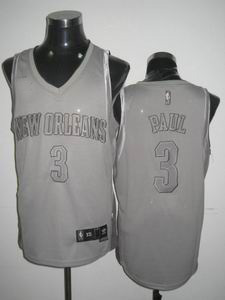 nba New Orleans Hornets #3 Chris Paul grey
