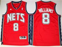 New Jersey Nets 8 Deron Williams red Jersey