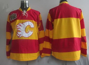 Calgary Flames Blank Red Orange Classic Hockey Jersey
