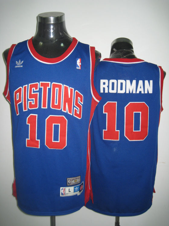 NBA Detroit Pistons #10 Rodman blue jerseys
