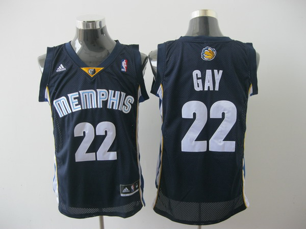 memphis grizzlies #22 gay blue[2011 swingman revolution 30]