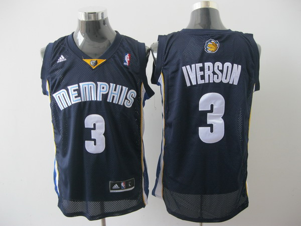 memphis grizzlies #3 iverson blue[2011 swingman revolution 30]