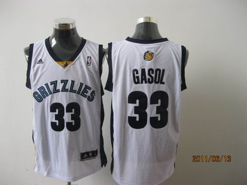 memphis grizzlies #33 gasol white[2011 swingman revolution 30]