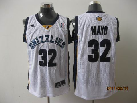 memphis grizzlies #32 mayo white[2011 swingman revolution 30