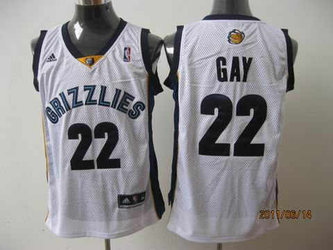 memphis grizzlies #22 gay white[2011 swingman revolution 30
