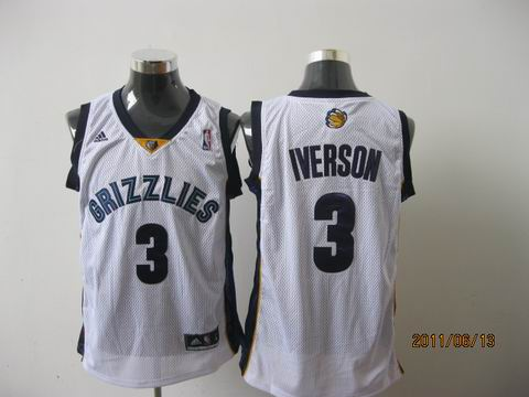 memphis grizzlies #3 iverson white[2011 swingman revolution 30]