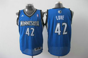Minnesota Timberwolves 42 Kevin Love blue Road Jersey