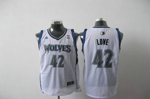 Minnesota Timberwolves 42 Kevin Love white Jersey