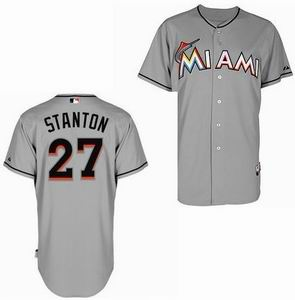 Miami Marlins 27 Mike Stanton grey Cool Base Jersey