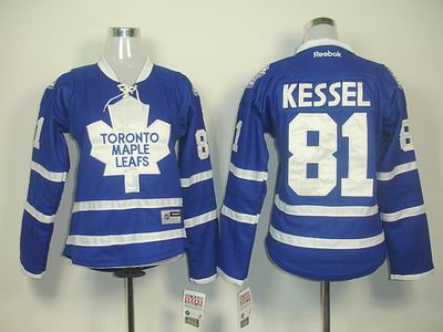 Women Toronto Maple Leafs 81 Phil Kessel BLUE Jersey