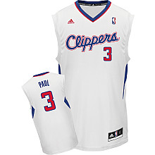Los Angeles Clippers 3 Chris Paul WHITE Jersey