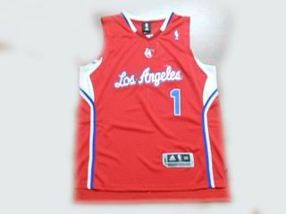 Los Angeles Clippers 1 Chauncey Billups red jerseys