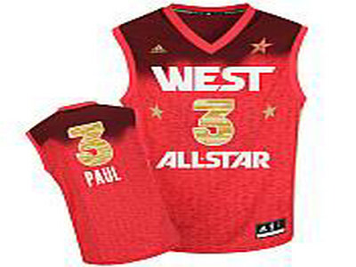 Los Angeles Clippers 3 Chris Paul All-Star 2012 Western red jerseys