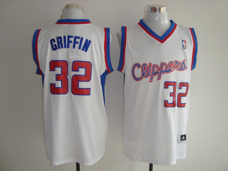 Los Angeles Clippers 32 Blake Griffin White Jerseys
