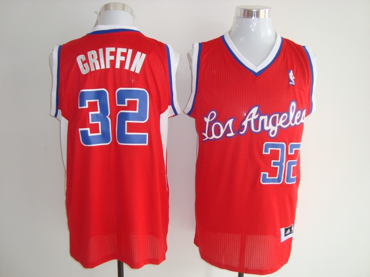 Los Angeles Clippers 32 Blake Griffin Red Jerseys