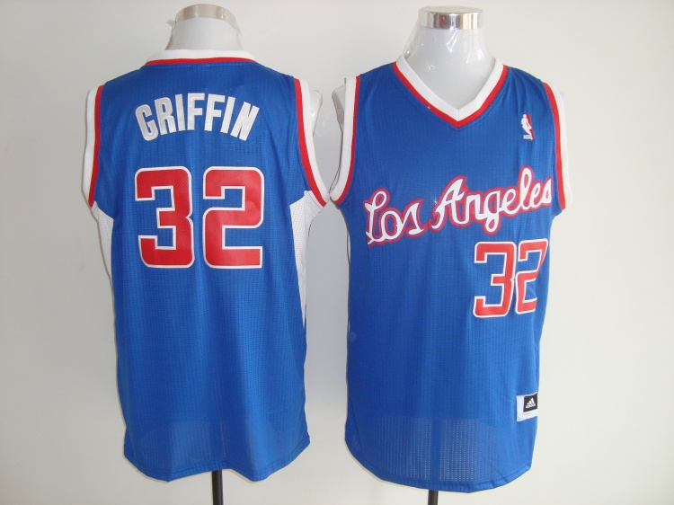 Los Angeles Clippers 32 Blake Griffin Blue Jerseys