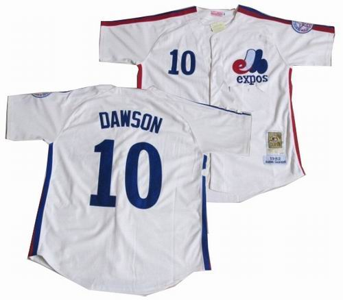 Montreal Expos 10 Andre Dawson Road Mitchell & Ness Jersey white