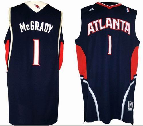 Atlanta Hawks 1 Tracy McGrady blue jerseys